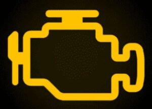 Auto lampje motormanagement